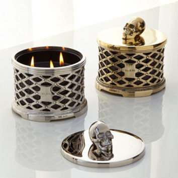 D.L. & Company Skull Lattice with Crystals Scented Candle
