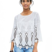 Banana Republic Womens Lace Hem Top