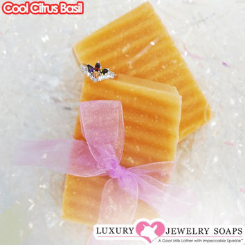 Cool Citrus Basil Luxury Jewelry Soaps