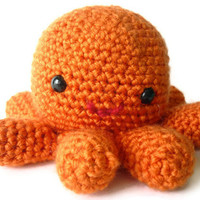 Oscar the Octopus - Cute Amigurumi Crocheted Stuffed Animal Plush