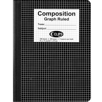 Graph Composition Notebook - 100 Sheets - 48 Books Set