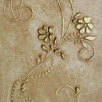 Large Plaster Stencil Chantal Frieze Wall Stencil