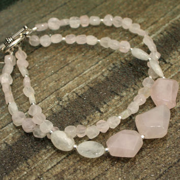 Rose Quartz and Moonstone Bracelet