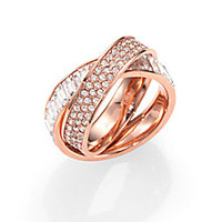 Michael Kors - Intertwined Baguette & Pavé Ring/Rose Gold - Saks Fifth Avenue Mobile