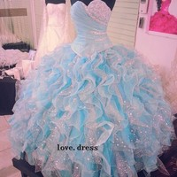 New Luxury Quinceanera Formal Prom Party Ball Gown Wedding Dress Custom Sz 2-28+