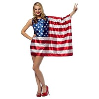 USA Flag Dress Costume - Adult (Blue/White/Red)