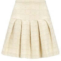 Ivory Tweed Flared Skirt | Co | Avenue32