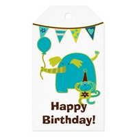 Kids Circus Birthday Pack Of Gift Tags