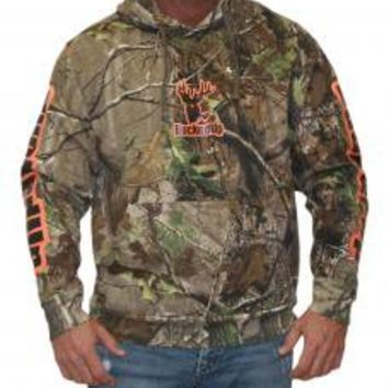 Pullover Hoodie - Realtree APG Camo with Orange Logo