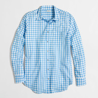 Factory gingham classic button-down shirt in boy fit