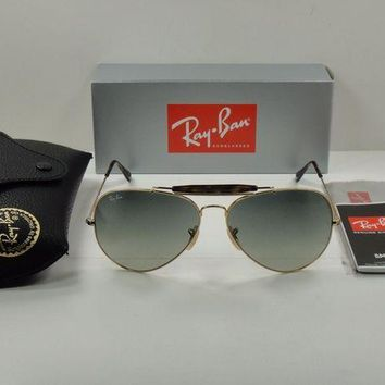 Kalete RAY-BAN OUTDOORSMAN SUNGLASSES RB3029 181/71 GOLD & HAVANA /GREY LENS 62MM