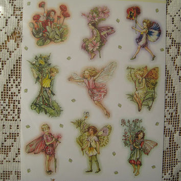 Made In Holland Cicely Mary Barker Flower Fairies Self Adhesive Stickers 1 Sheet  E