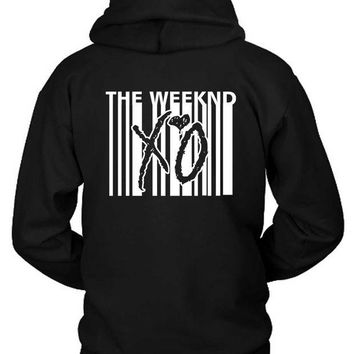 DCCKG72 The Weeknd Xo Barcode Hoodie Two Sided