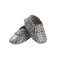 MOC HAPPENS™ LEATHER BABY MOCCASINS | polka dot