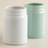Small Mason Jar Vases, Set of 2 - World Market