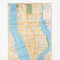 UrbanOutfitters.com > New York City Map Poster