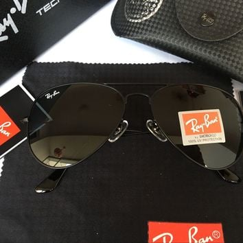 Ray-Ban RB 3025 Aviator Black Mirrior Sunglasses