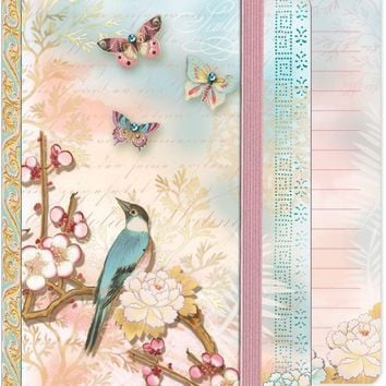 Soft Cover Bungee Journal - Pastel Bird & Butterflies
