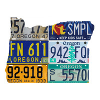 Oregon License Plate wall decal