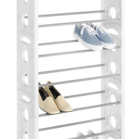 Whitmor, Inc 30 Pair Floor Shoe Stand with Non-Slip Bars