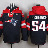 New England Patriots #54 Dont'a Hightower Navy Blue Pullover Hoodie