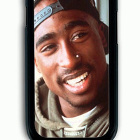 Samsung Galaxy S3 Case - Rubber (TPU) Cover with tupac shakur Rubber Case Design