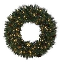 "LED MIXED NOBLE WREATH 30"", 36'', 48''."
