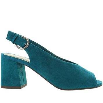 Seychelles Playwright - Teal Suede Sling-Back Sandal