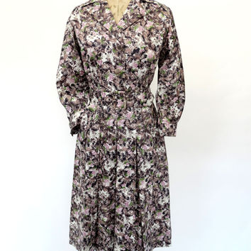 VINTAGE 1940s WARTIME TEA DRESS 10 12