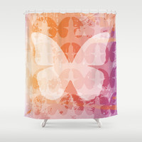 Butterfly Mist Shower Curtain by C Designz