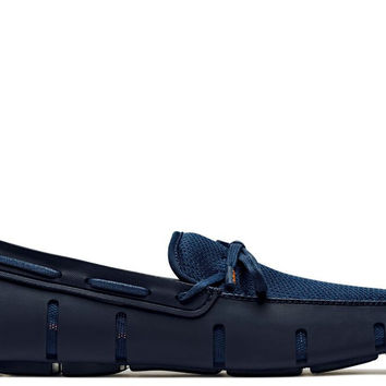 Navy Lace Loafer