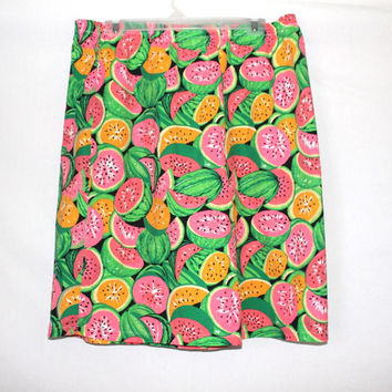 90s Watermelon All Over Print Baggy Shorts
