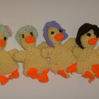 Handmade crochet chicken egg cozies set of by CanadianCraftCritter