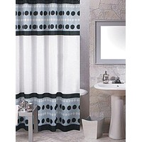 BenandJonah Collection Fabric Shower Curtain 70 x 72 inch  Just Dots
