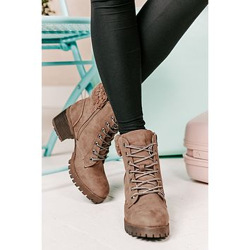 Keep It Running Booties (Taupe)