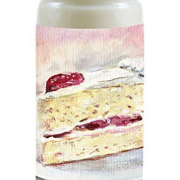 Scented Like Strawberry Cream Cake Heavenly Food Fragrance Soy 8 Ounce Candle