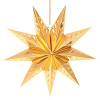 "Holiday Hanging Star Small 16"" Gold"