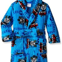 Thomas the Train Little Boys' Railway Fun Plush Character Robe, Blue, 4T