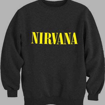 Nirvana Yellow Sweater for Mens Sweater and Womens Sweater *