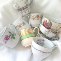 Vintage Mismatched Medley Demitasse Tea Cups Set of 8 Tea Party Princess Birthday Party