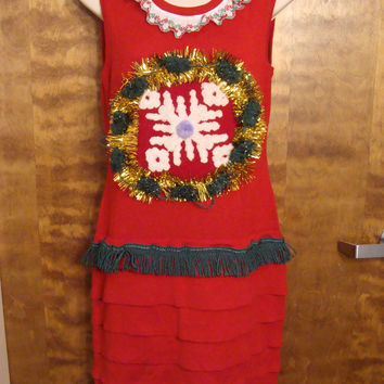 Festive Red Christmas Dress