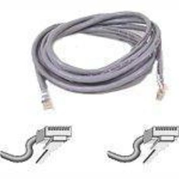 Belkin Components 20ft Cat5e Patch Cable, Utp, Gray Pvc Jacket, 24awg, T568b, 50 Micron, Gold Plat