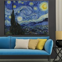 Large sizes Starry Night c1889 Giclee poster By vincent Van Gogh print Wall art oil Painting picture print on canvas no frame