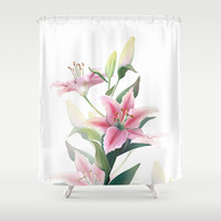 Lilium Shower Curtain by printapix