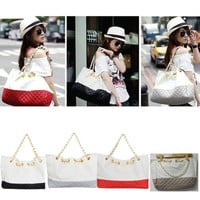 Women Lady Korean Satchel Shoulder Purse Handbag Tote Bag HOBO PU Leather Large = 1697172164