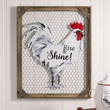 Rise & Shine! Chicken Wall Decor with Chicken Wire