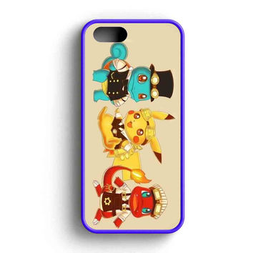 Pikachu Steampunk Funny Squirtle Charmander  iPhone 5 Case iPhone 5s Case iPhone 5c Case