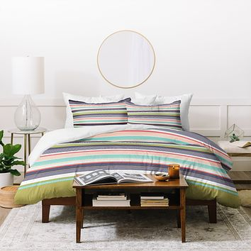 Wendy Kendall Multi Stripe Duvet Cover