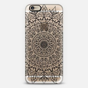 BLACK BOHO MANDALA iPhone 6 case by Nika Martinez | Casetify