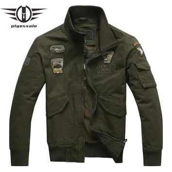 Bomber Jacket Men Air Force One Men Jackets And Coats Army Military Pilot Jacket
